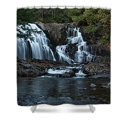 Houston Brook Falls Shower Curtain