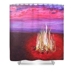 Huntington Beach Thursday Night Shower Curtain