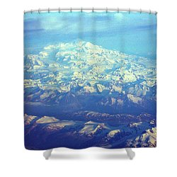 Ice Covered Mountain Top Shower Curtain