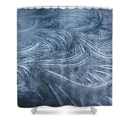 Ice Crystals Shower Curtain