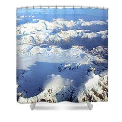 Icebound Mountains Shower Curtain