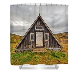 Iceland Chalet Shower Curtain