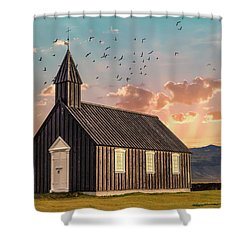 Iceland Chapel Shower Curtain