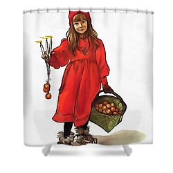 Iduna And Her Magic Apples Shower Curtain