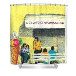 Il Gelato De Borgo Marina Shower Curtain