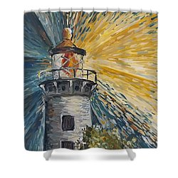 Shower Curtain featuring the painting Illumination by Maria Langgle