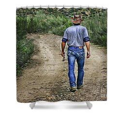 I'm Goin' Fishin Shower Curtain