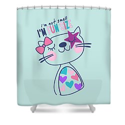I'm Not Small, I'm Fun Size - Baby Room Nursery Art Poster Prin Shower Curtain