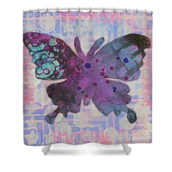Imagine Butterfly Shower Curtain