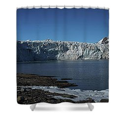 In Front Of A Glacier On Svalbard Shower Curtain