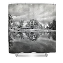 In The Quiet Spaces Of The Mind Shower Curtain