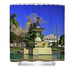 Shower Curtain featuring the photograph Independence Park by Tony Murtagh