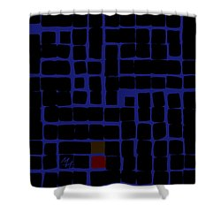 Industrial Night Shower Curtain