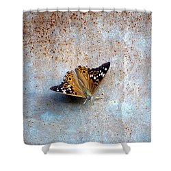 Industrious Butterfly Shower Curtain