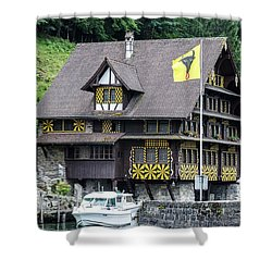 Inn On Lake Lucerne Shower Curtain