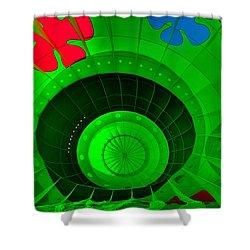 Inside The Green Balloon Shower Curtain