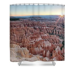 Shower Curtain featuring the photograph Inspiration Point Sunrise Bryce Canyon National Park Summer Solstice by Nathan Bush