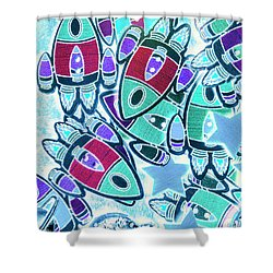 Intergalactic Abstract Shower Curtain