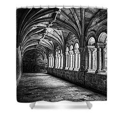 Shower Curtain featuring the photograph Interior Corridors Of The Monastery Of Santo Estevo De Ribas Del Sil by Eduardo Jose Accorinti