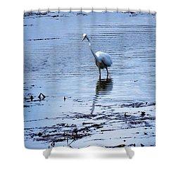 Intermediate Egret At Lake Pat Shower Curtain