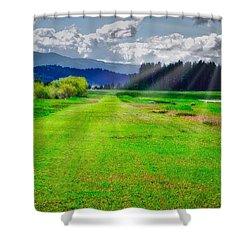 Inviting Airstrip Shower Curtain