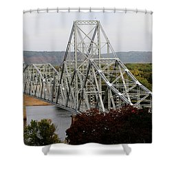 Iowa - Mississippi River Bridge Shower Curtain