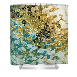 Shower Curtain featuring the painting Isaiah 26 3. In Perfect Peace by Mark Lawrence