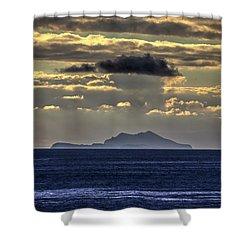 Island Cloud Shower Curtain