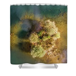 Shower Curtain featuring the photograph Island by Okan YILMAZ