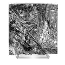 Shower Curtain featuring the digital art It Has Been A Busy Day by Angie Tirado