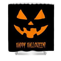 Jackolantern Happy Halloween Pumpkin Shower Curtain
