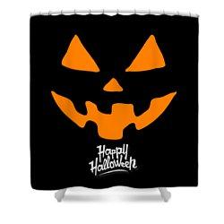Jackolantern Pumpkin Happy Halloween Shower Curtain