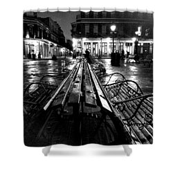 Jackson Square In The Rain Shower Curtain