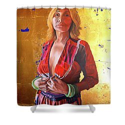 Jade Lady  Life On The Edge Shower Curtain
