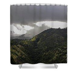 Jamaican Blue Mountains Shower Curtain