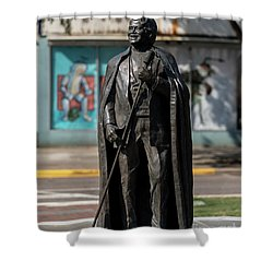 James Brown Statue - Augusta Ga 2 Shower Curtain