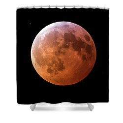 January 2019 Super Blood Wolf Moon Lunar Eclipse Square Shower Curtain