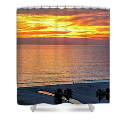 January Sunset - Vertirama Shower Curtain