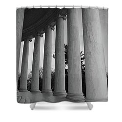 Jefferson Memorial In Black And White Shower Curtain