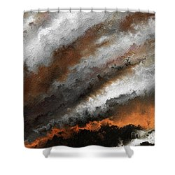 Jeremiah 20 9 Fire In My Heart Shower Curtain