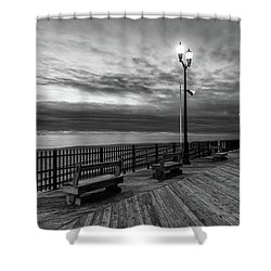 Jersey Shore In Winter Shower Curtain