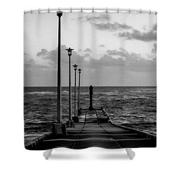 Shower Curtain featuring the photograph Jetty by Stuart Manning