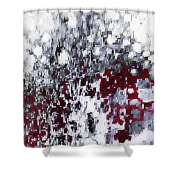 Shower Curtain featuring the painting John 3 17. God's Amazing Love by Mark Lawrence