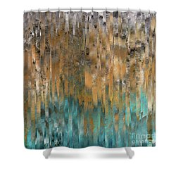 John 4 14. Never Thirst Shower Curtain
