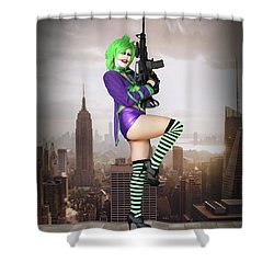 Joker Is Wild Shower Curtain
