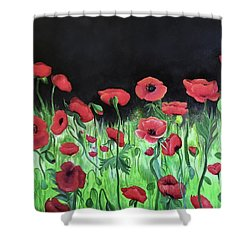 Jon's Poppies Shower Curtain