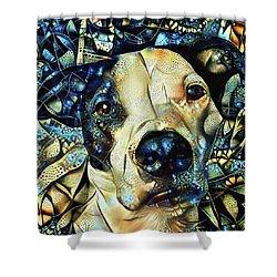 Joshua The Staffordshire Terrier Great Dane Cross Shower Curtain