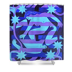 Shower Curtain featuring the painting Joy by Denise Weaver Ross