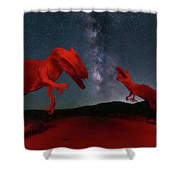 Shower Curtain featuring the photograph Jurassic by Tassanee Angiolillo