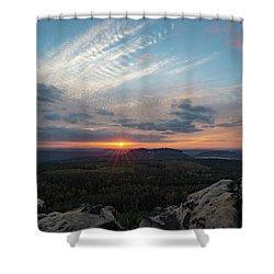 Just Before Sundown Shower Curtain